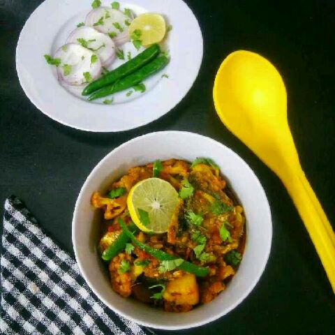 How to make Fish Head With Cauliflower Curry