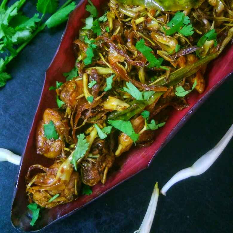 How to make Stir Fry Chicken And Banana Flower