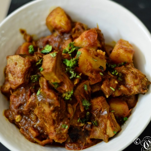Photo of Panasa Katha Kasa - Kathal Ki Sabzi - Tender Jackfruit Curry by Alka Jena at BetterButter