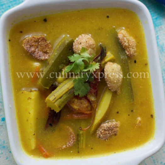 Photo of Chuin Aloo – Baigan-Badhi Tarkari (Drumstick-Potato-Brinjal In Mustard Sauce) by Alka Jena at BetterButter