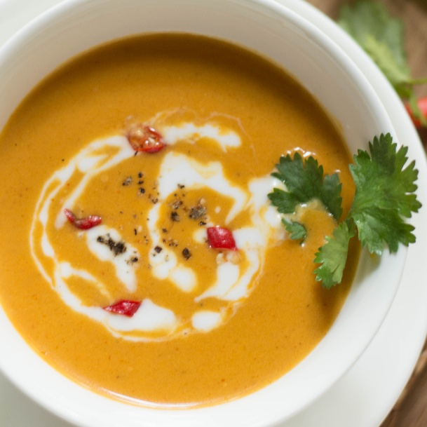How to make Thai Pumpkin Soup with Red Curry Paste