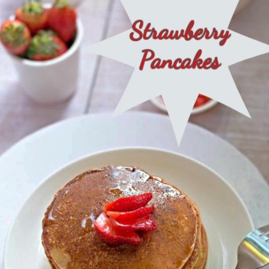 How to make Eggless Strawberry Pancakes