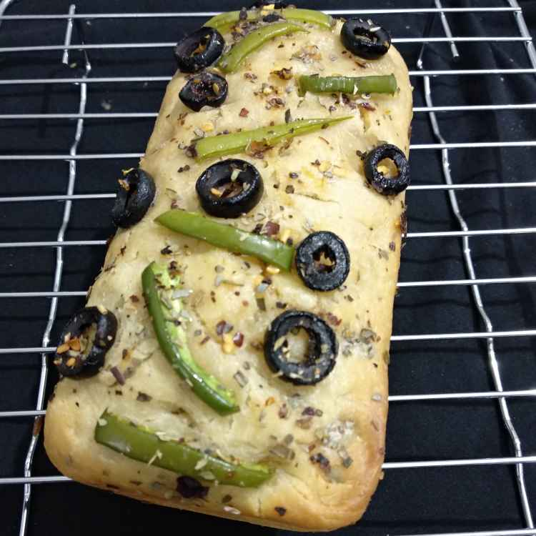 Photo of Focaccia bread loaf by Alka Munjal at BetterButter