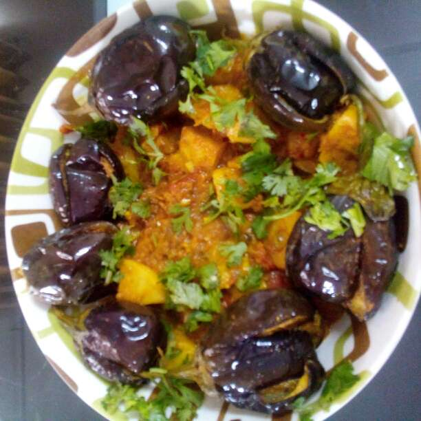 Photo of Brinjal with potato gravy by Alka Munjal at BetterButter