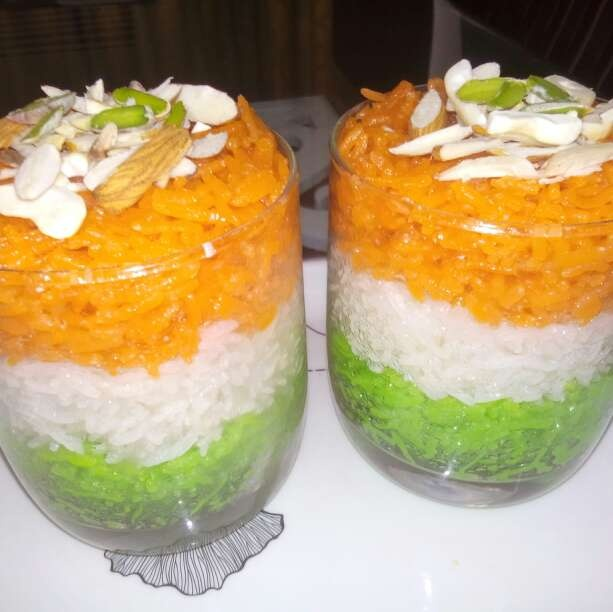 Photo of Tricolour Sweet Rice by Alka Munjal at BetterButter