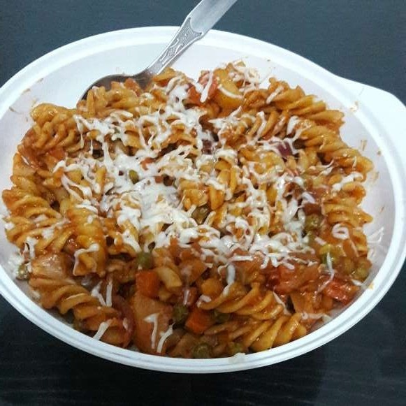 Photo of Cheesy Pasta with Pav Bhaji flavours by Alka Munjal at BetterButter