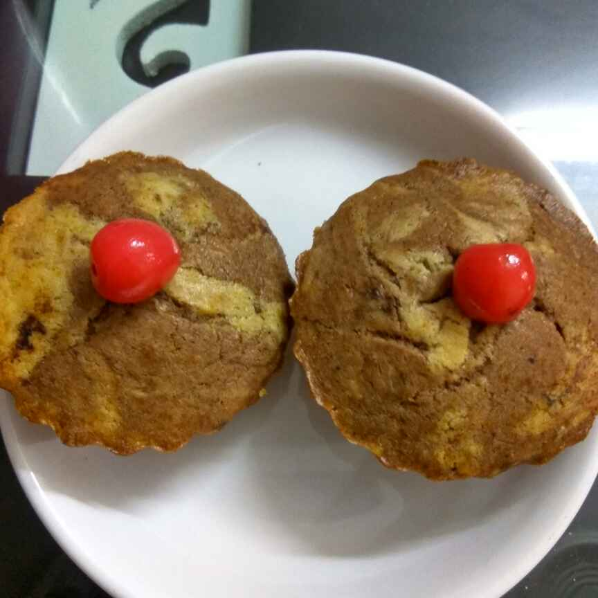 Photo of Marble cup cakes by Alka Munjal at BetterButter