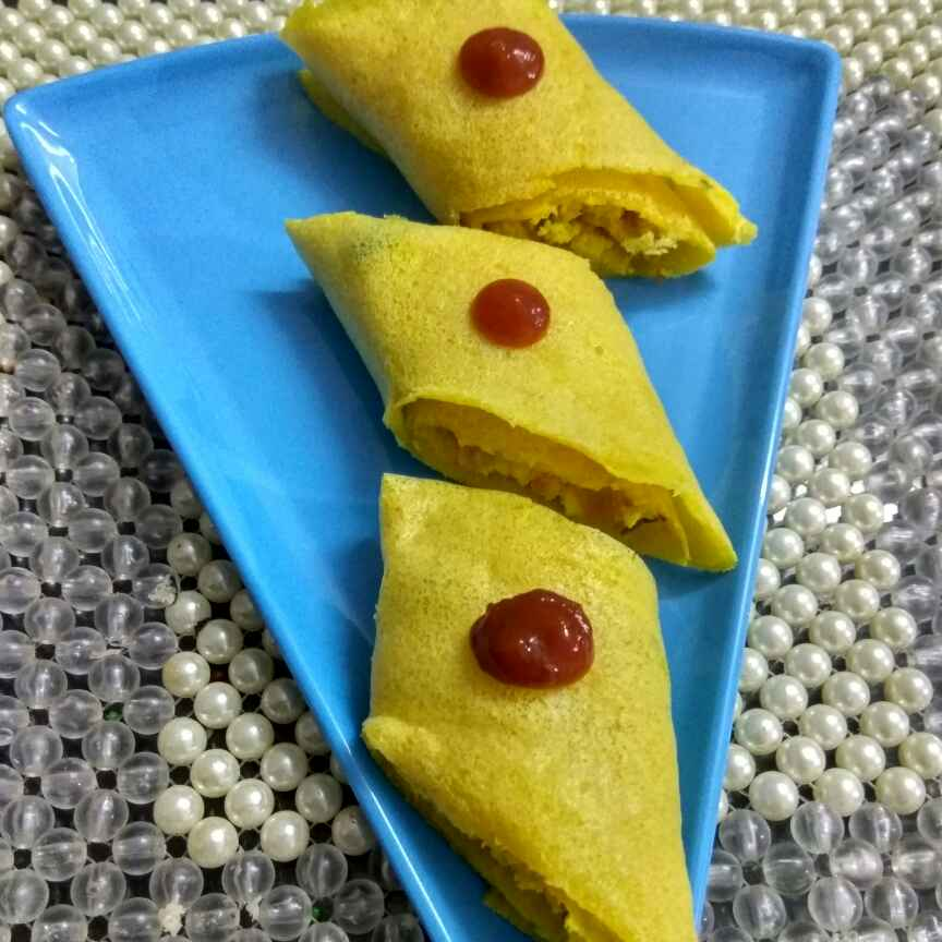 How to make Moong chilla rolls