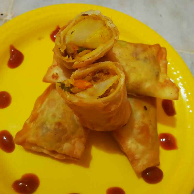 Photo of Veg spring roll by alka(priyanka) sharma at BetterButter