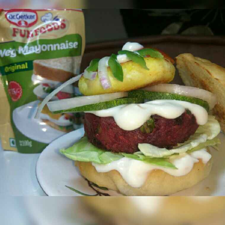 How to make Quinoa Beetroot and Tofu Burger