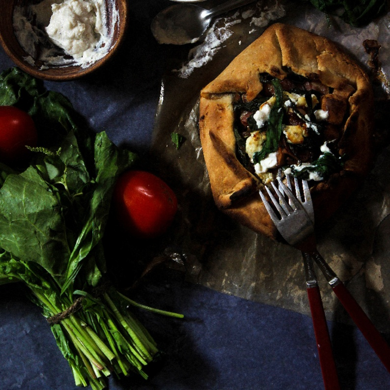 How to make Ricotta, Balsamic Mushroom and Bacon Galette