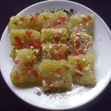 Photo of Raw papaya barfi by Ambitious Gopa Dutta at BetterButter