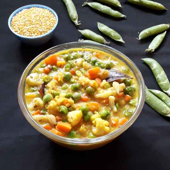 How to make Mixed veg moongdal