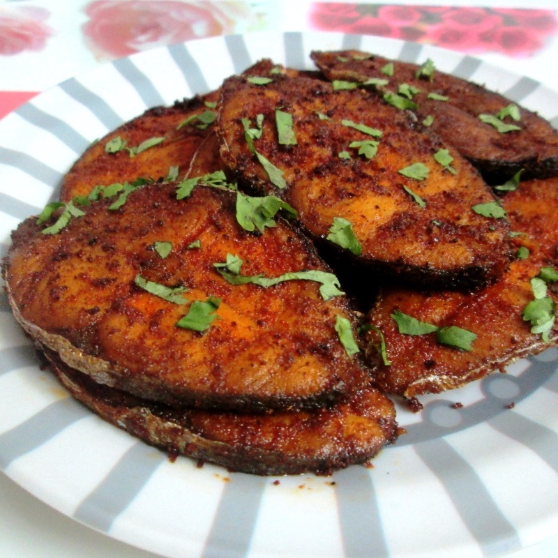 How to make Tomato ketchup flavoured Seer fish fry