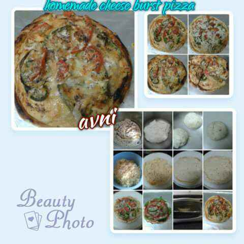 Photo of Homemade Cheese Burst Pizza without Yeast by Avni Arora at BetterButter