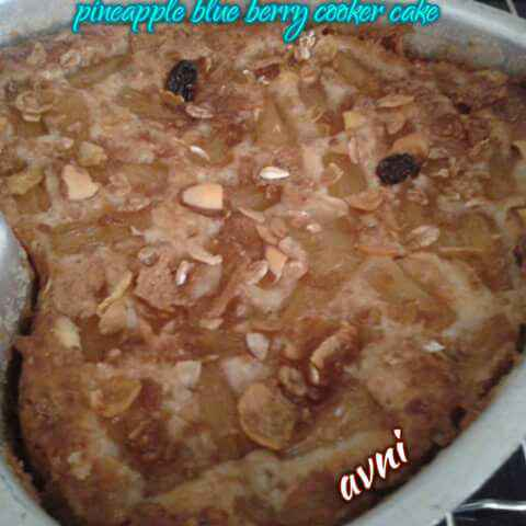 Photo of Pineapple Blueberry Cooker Cake by Avni Arora at BetterButter
