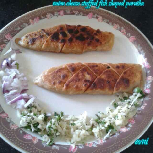 Photo of Onion Cheese Stuffed Fish Shaped Paratha by Avni Arora at BetterButter