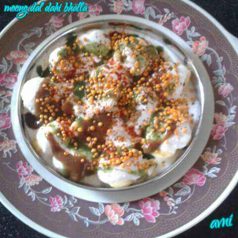 Photo of Yellow Moong Dal Dahi Bhalla by Avni Arora at BetterButter