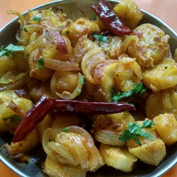 How to make कच्चे केले की सब्जी