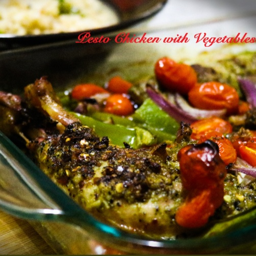 How to make Basil Pesto Chicken With Vegetables And Herb Brown Rice