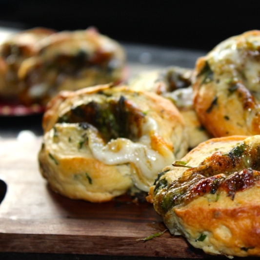 Photo of Stuffed Cheese and Herbed Bread Pinwheels by Amrita Iyer at BetterButter