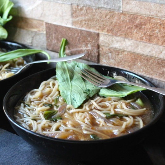 How to make Tomato Celery Noodle Soup