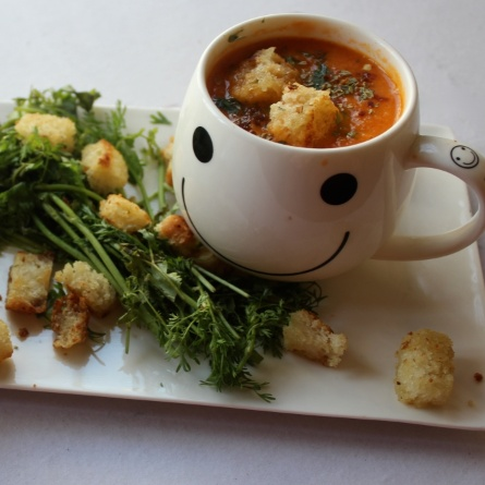 Photo of Roasted Tomato and Carrot Soup by Amrita Iyer at BetterButter