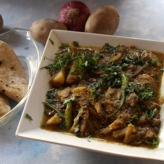 Photo of Aloo Palda (A Himachali Potato Curry) by Amrita Iyer at BetterButter