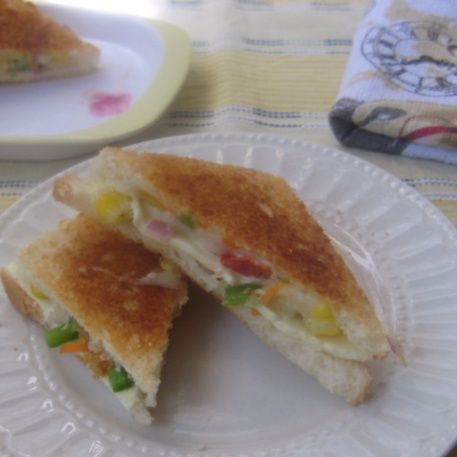 How to make Mixed Vegetable Sandwich