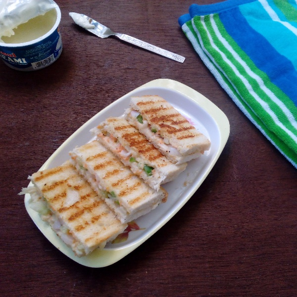 How to make Vegetable Cream Cheese Sandwich