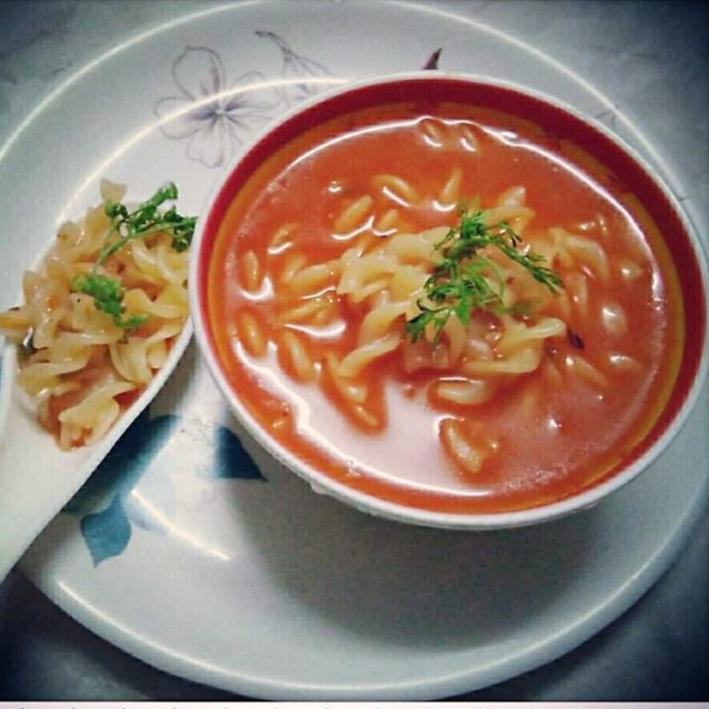 Photo of Tomato Basil Pasta Soup ! by Anagha Doiphode at BetterButter