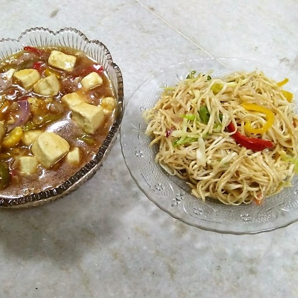 Photo of Paneer Chilli With Hakka Noodles by Anagha Doiphode at BetterButter
