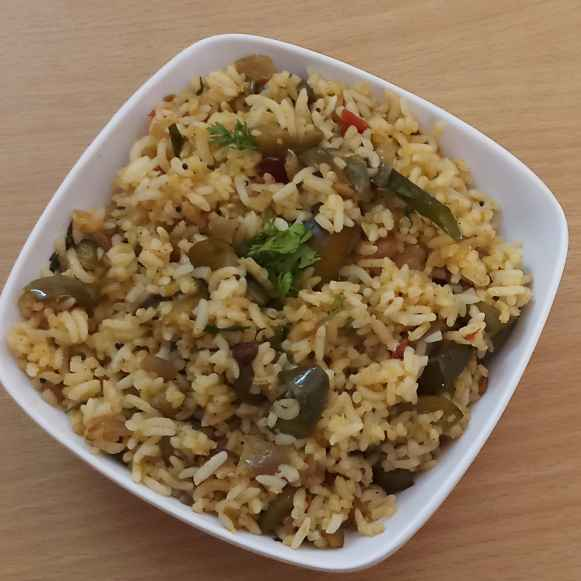 How to make Easy Brinjal rice.