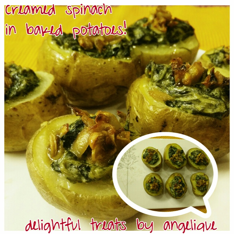 Photo of Creamed Spinach in Baked Potatoes by Angelique Goel at BetterButter