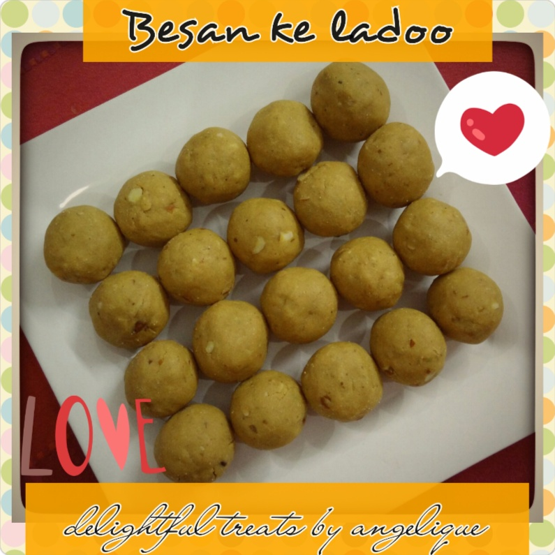 Photo of Besan ke Ladoo by Angelique Goel at BetterButter