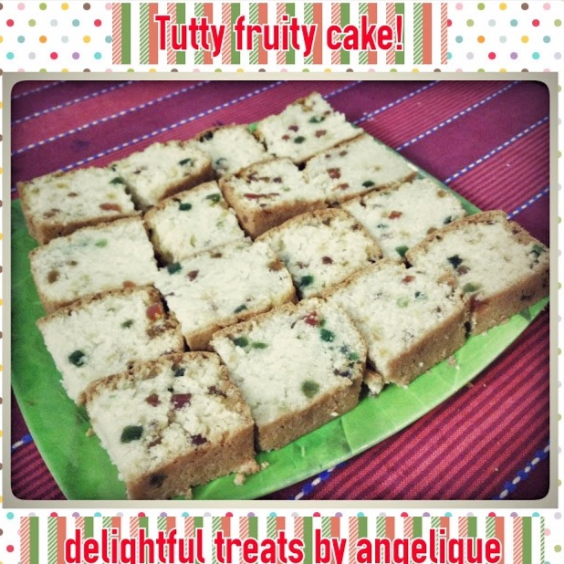 How to make Eggless Tutty Fruity cake