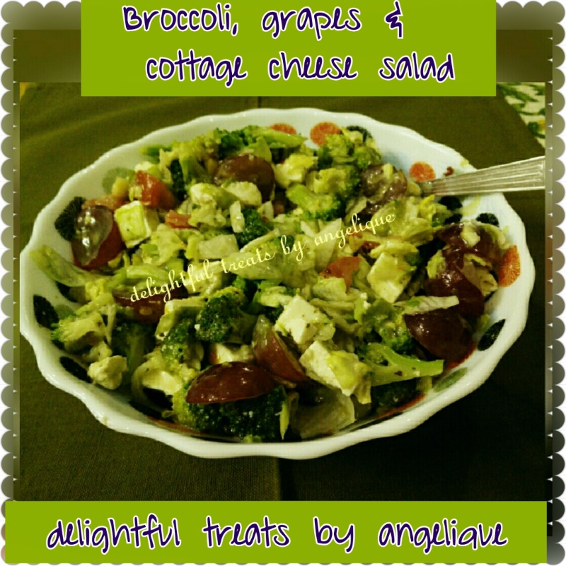 How to make Broccoli, Grapes And Cottage Cheese Salad