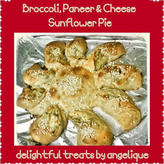 How to make Broccoli, Paneer And Cheese Sunflower Pie