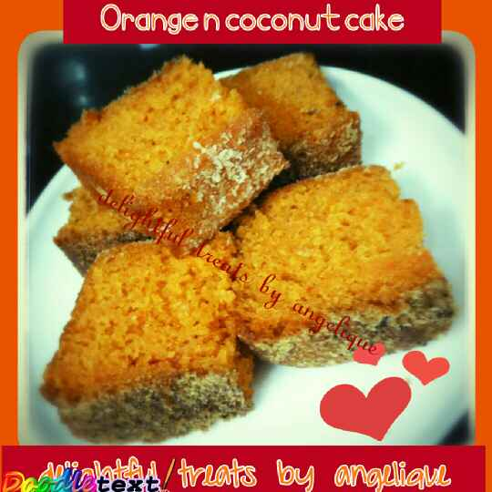 How to make Orange and Coconut Cake