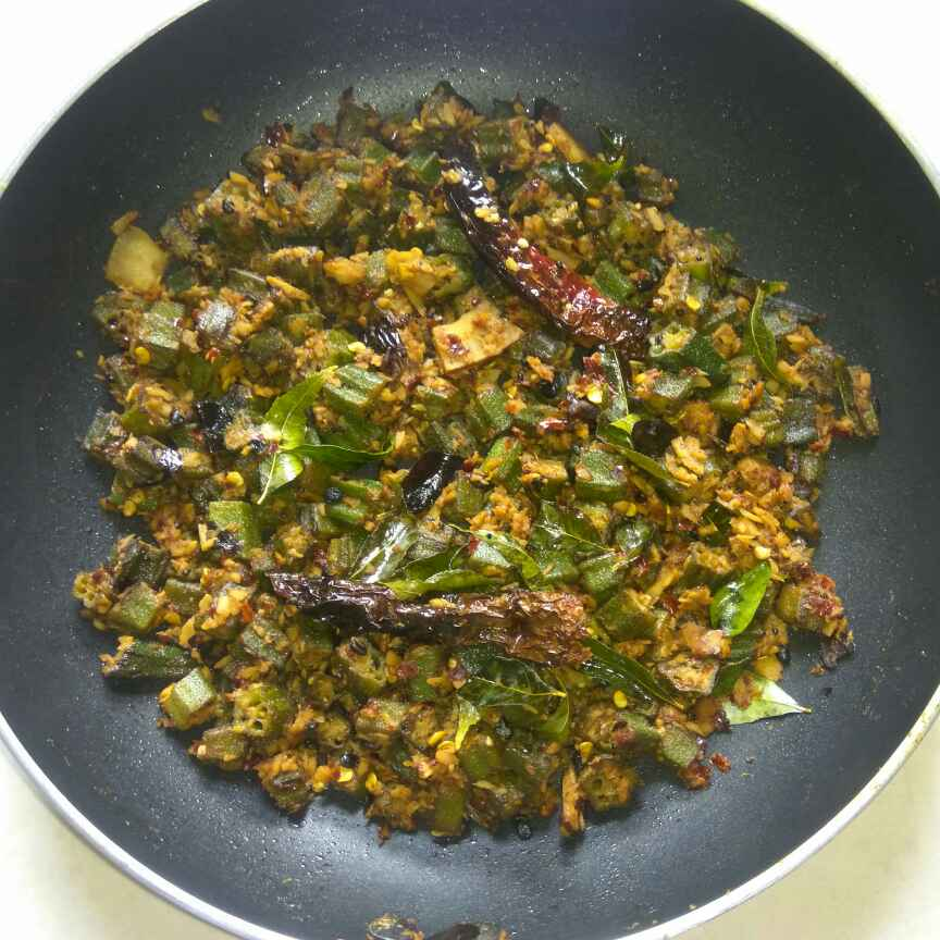 Photo of Okra fry with coconut by Anil Pharande at BetterButter