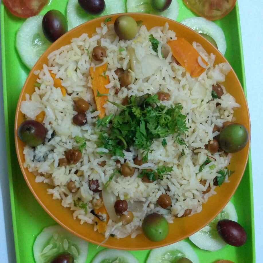 Photo of Sprouted chana and vakkaya pulao by anila Vuyyuru at BetterButter