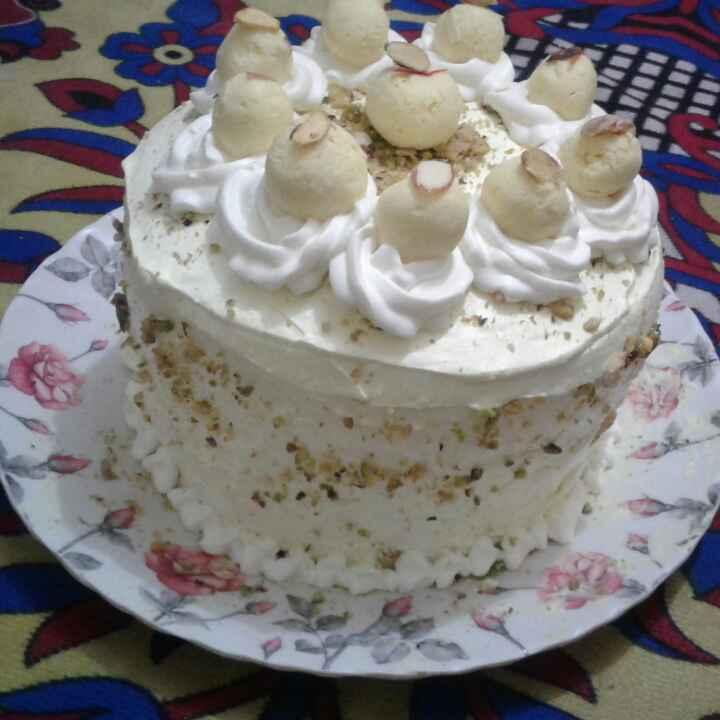 Photo of Rasmalai cake. by Anita Bhawari at BetterButter