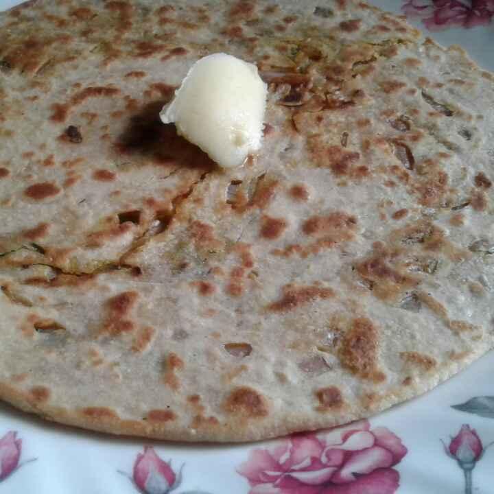 Photo of Paneer palak cheese paratha by Anita Bhawari at BetterButter