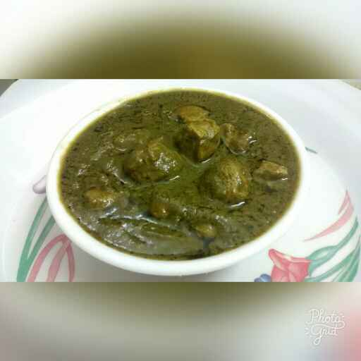 How to make Soya Chunks Palak Curry