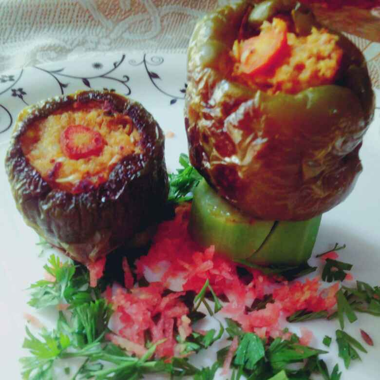 Photo of Stuffed bandgobhi , mushroom and capsicum by anita uttam patel at BetterButter