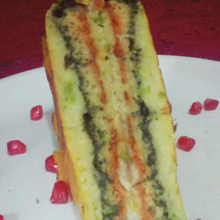 Photo of Palak moong dal sadwich by anita uttam patel at BetterButter