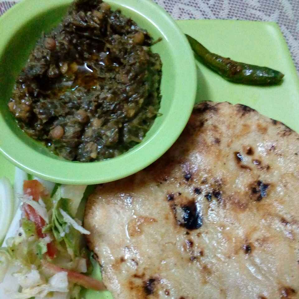 How to make Chane ka saag bajre ki roti