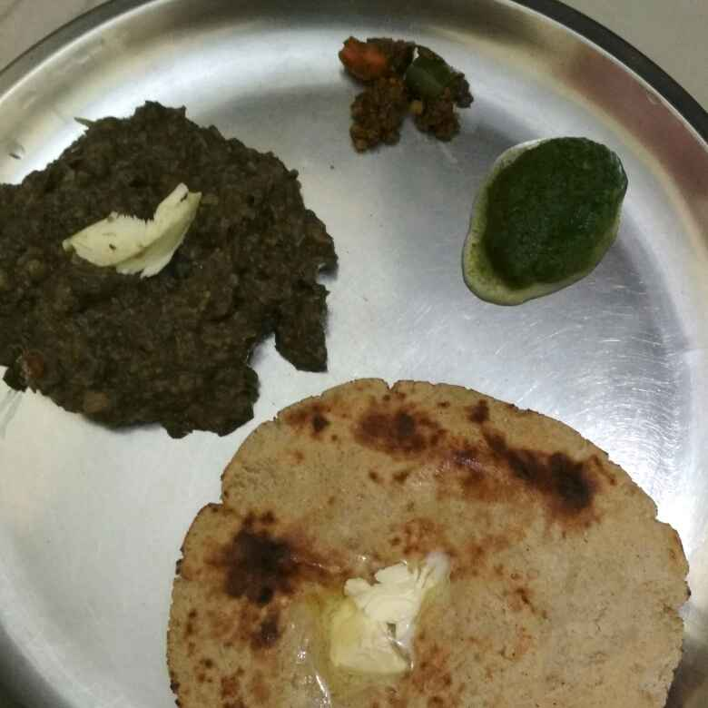 How to make Chane ka saag , jowar ki roti