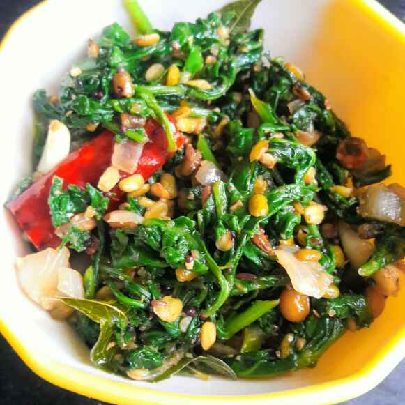 Photo of Spinach stir fry by Anitha Rani at BetterButter