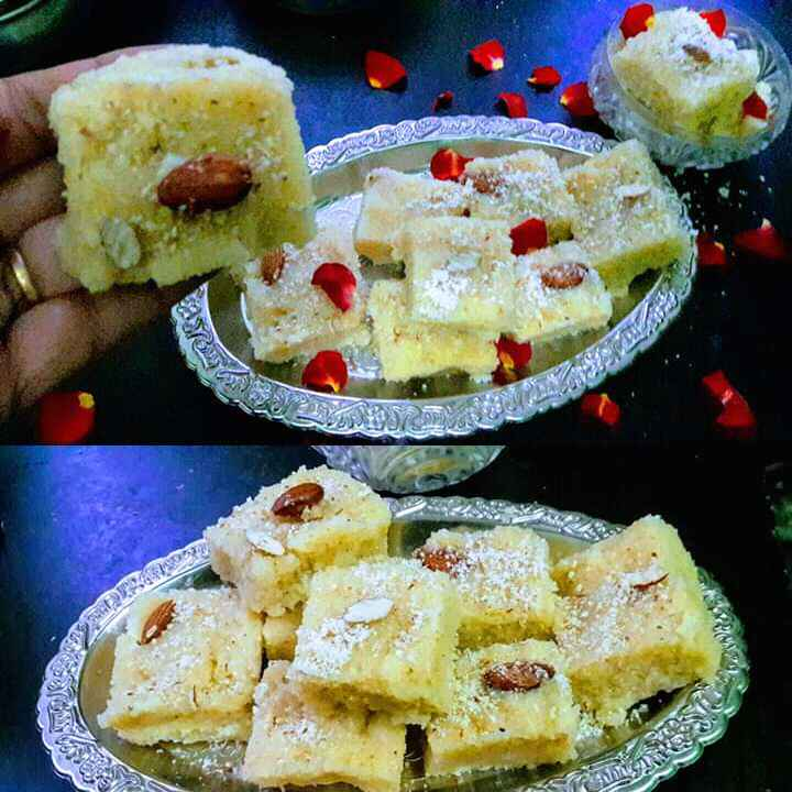 How to make గోధుమ రవ్వ బర్ఫీ
